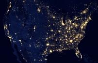 stany zjednoczone nocą